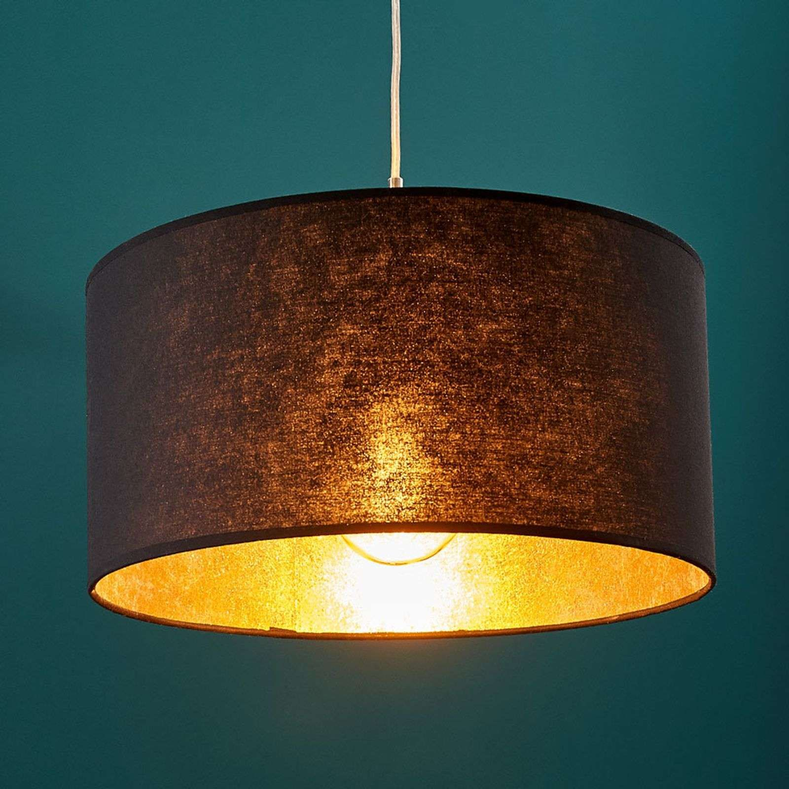 Black Gold Pendant Light Salma Round By Lampenwelt Com In 2021 Pendant Light Gold Pendant Lighting Lamp