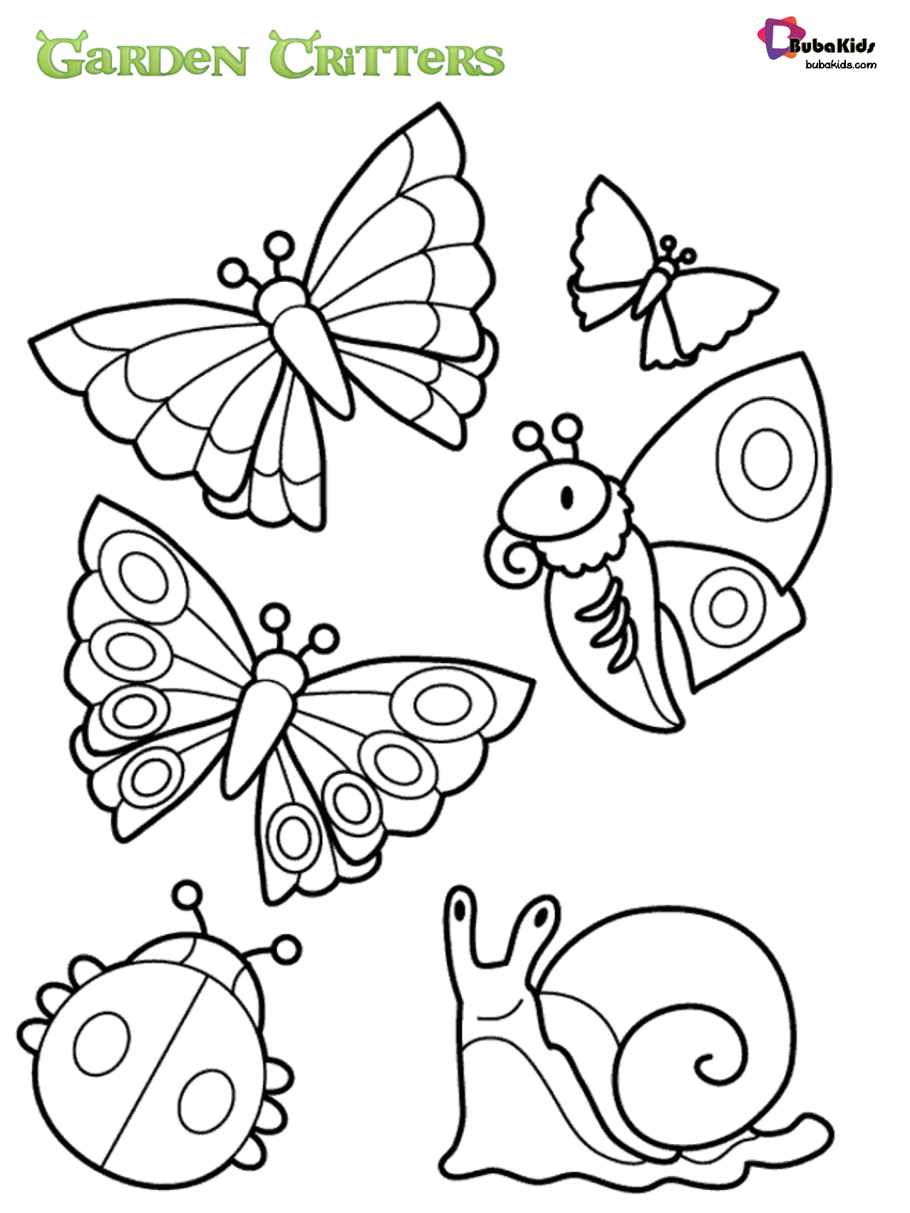 Garden Critters Coloring Page Animal Coloring Page In 2020 With