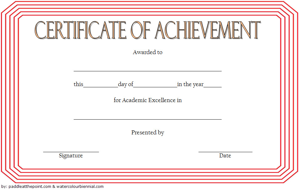 Academic Achievement Certificate Template from i.pinimg.com