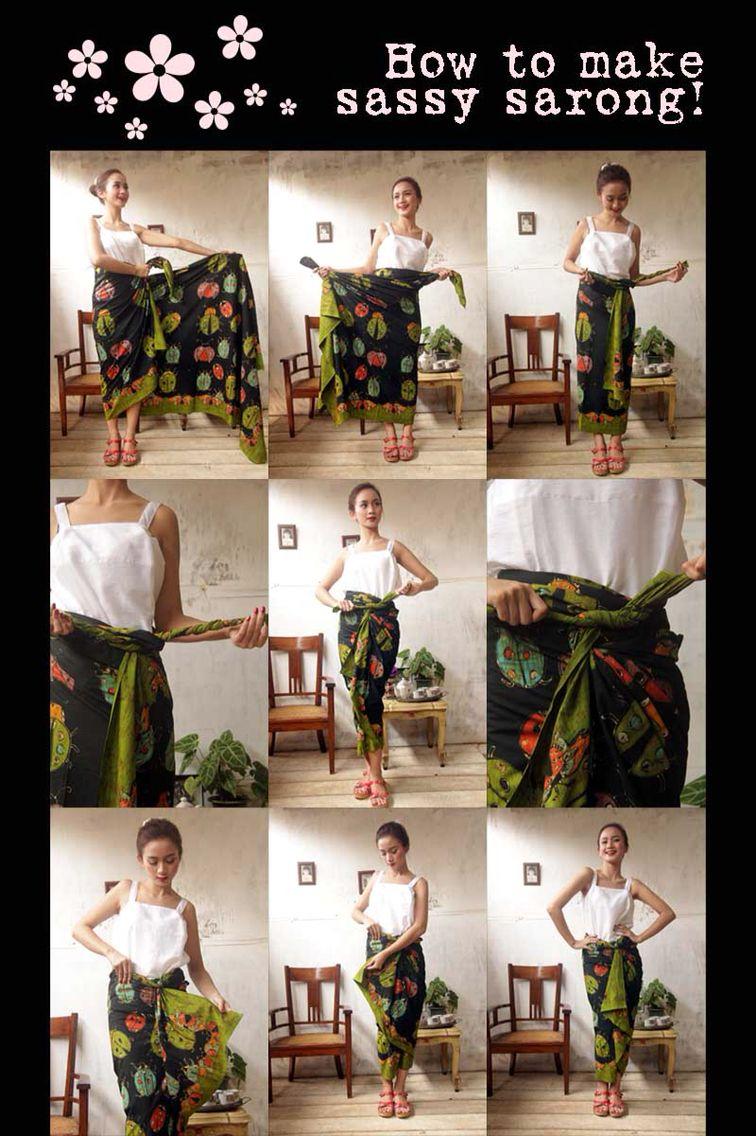 Batik Amarillis Made in Indonesia   How to wear sassy sarong!!!