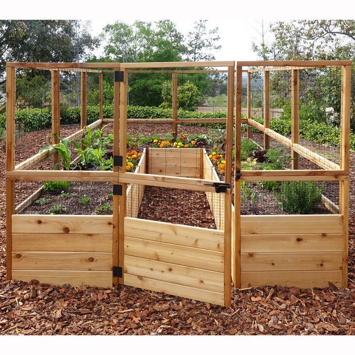 8 ft x 12 ft Cedar Raised Garden Bed with Deer Fence Kit 8 ft x 12 ft Cedar Raised Garden Bed with Deer Fence Kit