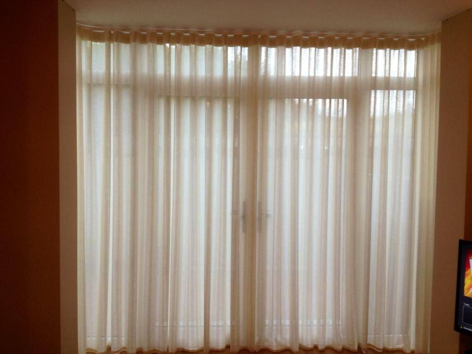 Harlequin Natural Elements Sheer Fabric Made In To Wave Top Curtains And On Bent To Measure Bay