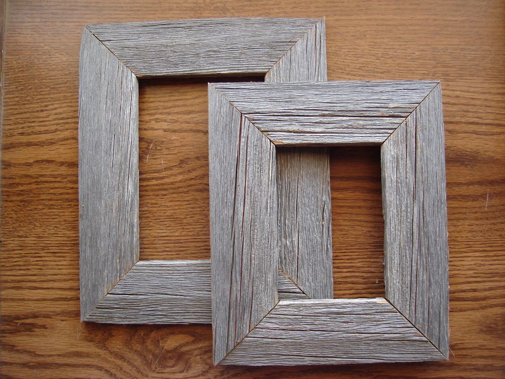 details about rustic wood picture frame reclaimed barnwood new everything u need included