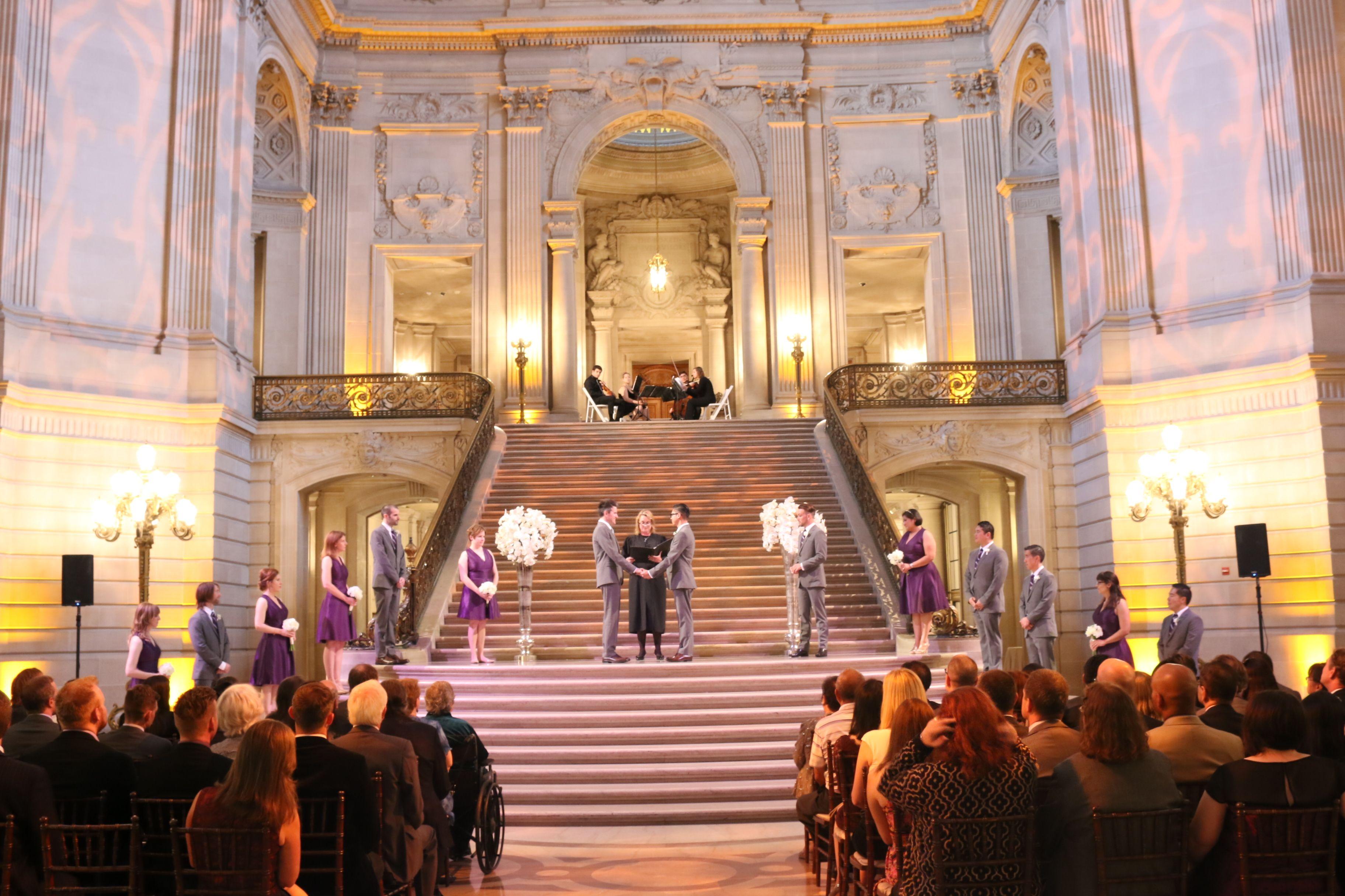 Mark And Shay S Wedding At San Francisco City Hall Rotunda Provided Sound Lighting Ceremony Music Wireless Microphones Dj Twin Spin Dj Video House Dance