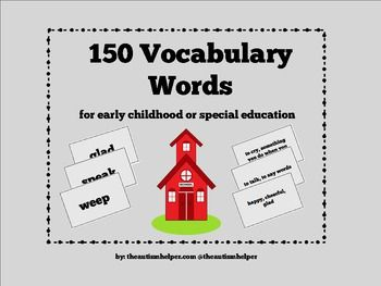 150 Vocabulary Words For Special Education Vocabulary Words