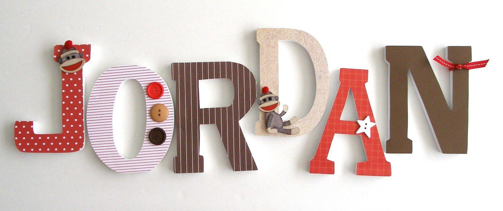 Sock monkey nursery letters - Google Search | Nursery name ...