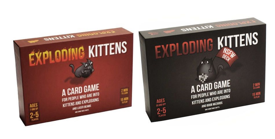 Exploding Kittens Both Decks Exploding Kittens Card Games