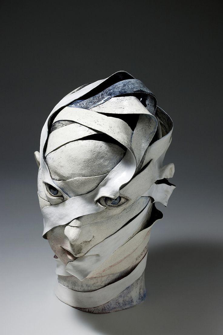 Lee Hae Jin Portrait 2008 30cm30cm45cm Jpg Sculpture Ceramic Sculpture Contemporary Sculpture