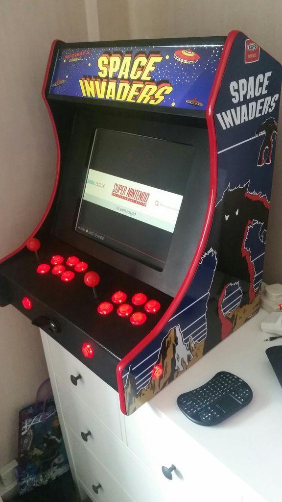 2 Player Bartop Arcade Machine Powered By Pi Arcade Mini Arcade Arcade Machine