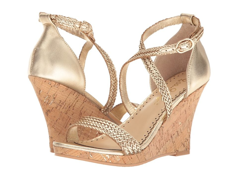 75e233d52df LILLY PULITZER LILLY PULITZER - MADDIE WEDGE (GOLD METALLIC) WOMEN S WEDGE  SHOES.  lillypulitzer  shoes