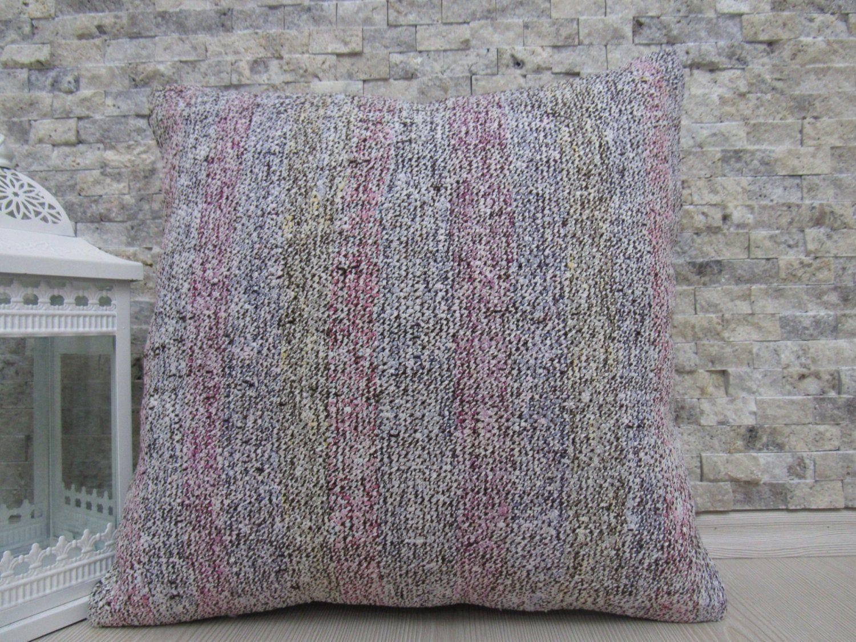 Aztec Cushion Modern Handmade Decorative Kilim Pillow 18 x 18 Turkish Pillow Organic Bedding Pillow Kilim Cushion Boho Pillow Throw Pillow