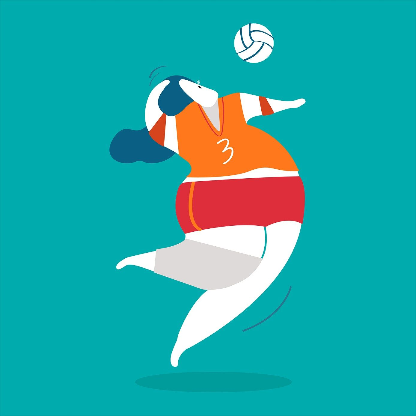 Character Illustration Of A Volleyball Player Free Image By Rawpixel Com Character Illustration Illustration Illustration Character Design