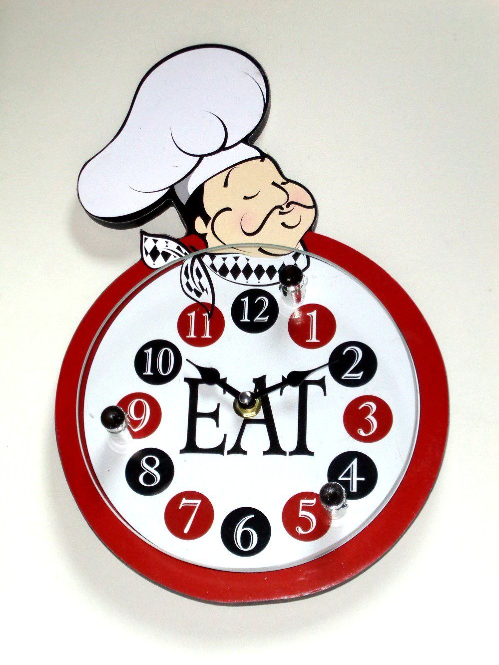 Fat Italian Chef Kitchen Wall Clock $19.95 | Fat Chefs Kitchen Decor ...