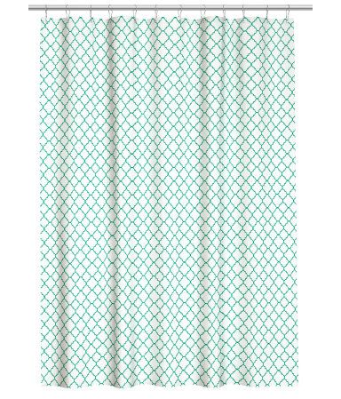 h m gemusterter duschvorhang 17 99 wishlist pinterest vorh nge. Black Bedroom Furniture Sets. Home Design Ideas
