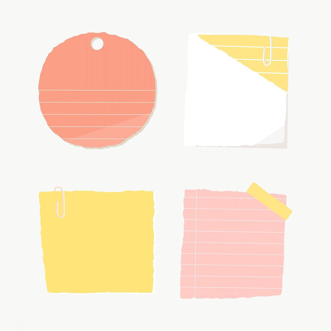 Colorful Paper Note Collection Social Ads Template Transparent Png Free Image By Rawpixel Com Manotang Note Paper Social Ads Sticky Notes Collection