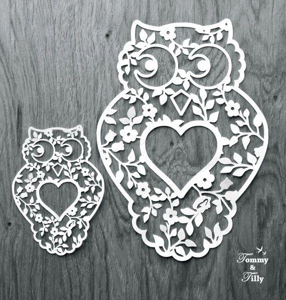 Owl Design Svg Pdf Papercutting Vinyl Template