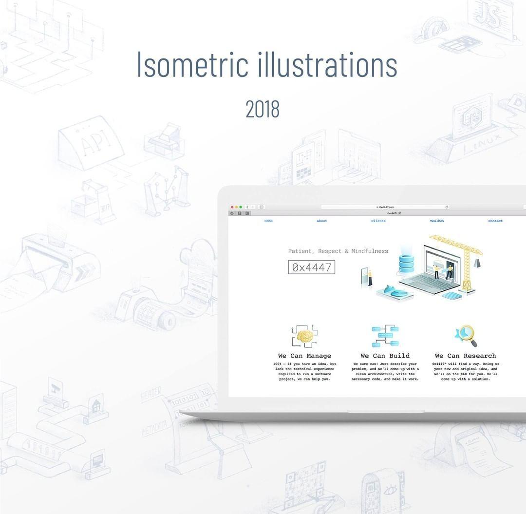 Isometric Illustration for the website 2019 #webdesign #web