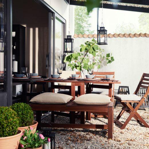 ikea garden furniture set complete with cushions garden pinterest