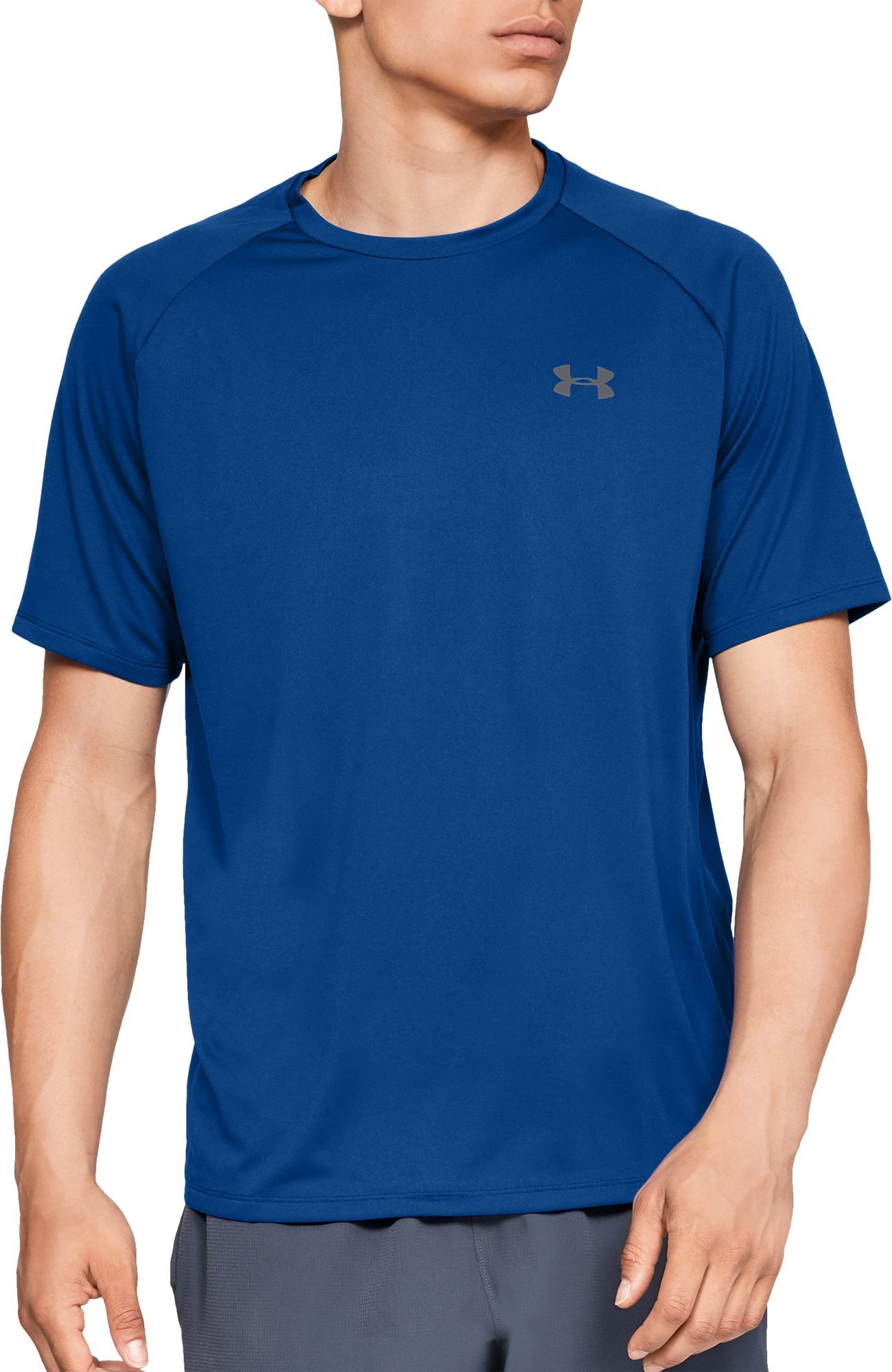 74fa8f0467eb58 Under Armour Men's Tech T-Shirt 2.0, Size: Small, Academy/Grey in ...