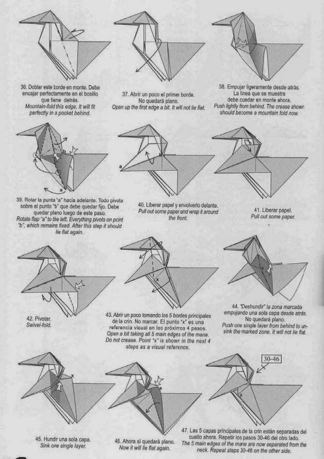 Unicorn Origami 3d Diagram