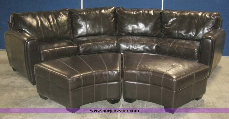 8571 Jpg Leather Half Moon Sectional Sofa With Two Ottomans