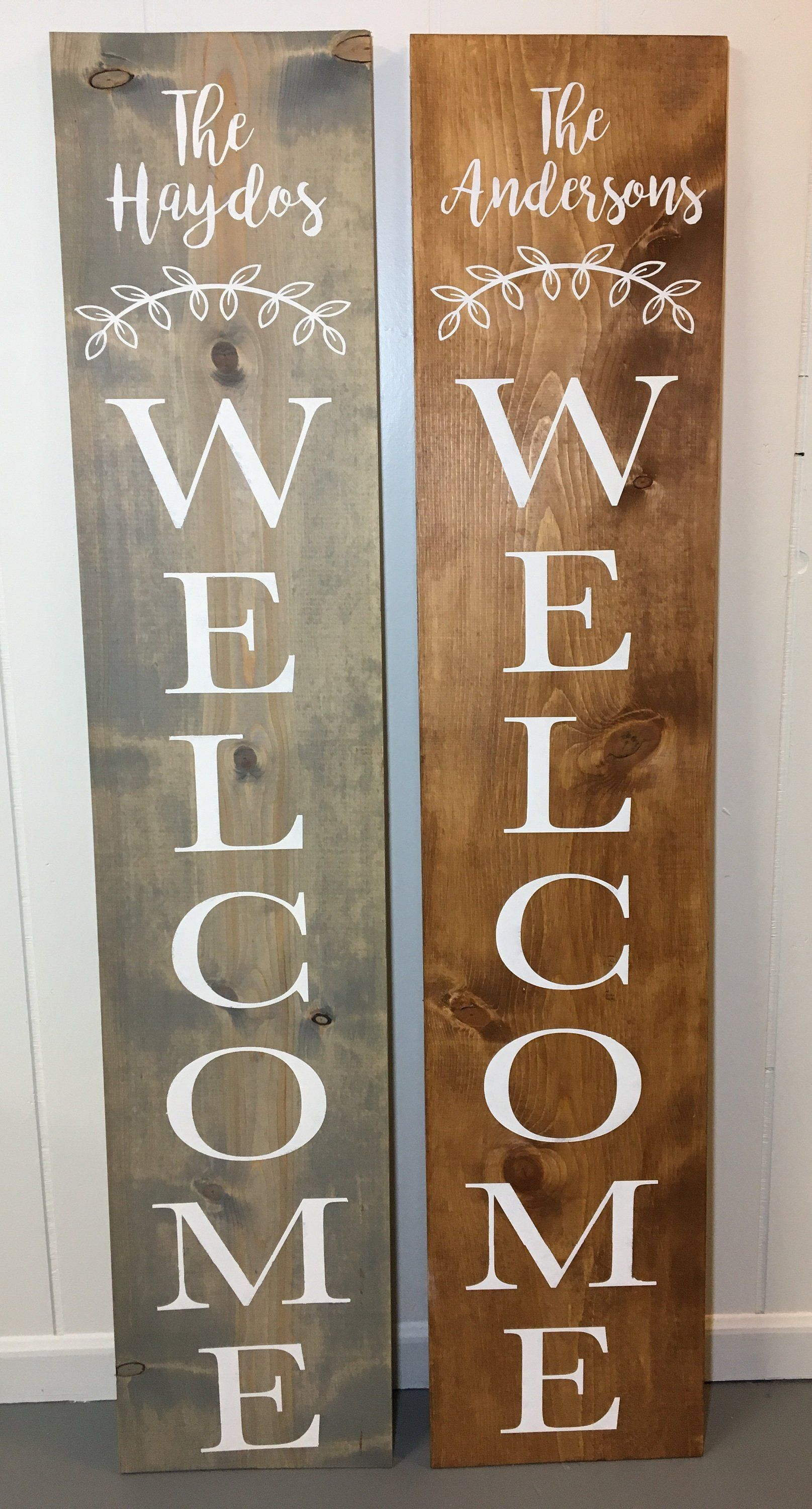 Welcome Sign Custom Name Welcome Welcome Porch Sign Front Door Welcome Sign Denneystudio With Images Welcome Signs Front Door Porch Welcome Sign Wooden Welcome Signs