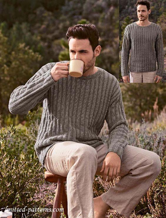 Round neck sweater knitting pattern free   Yarn   Pinterest ...