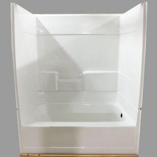 two piece shower tub unit. The Woodland  X Shower Tub 59 3 4 31 74 1 2 Piece Bathtubs