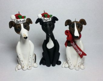 Italian Greyhound Ornament Angel Figurine Hand Painted