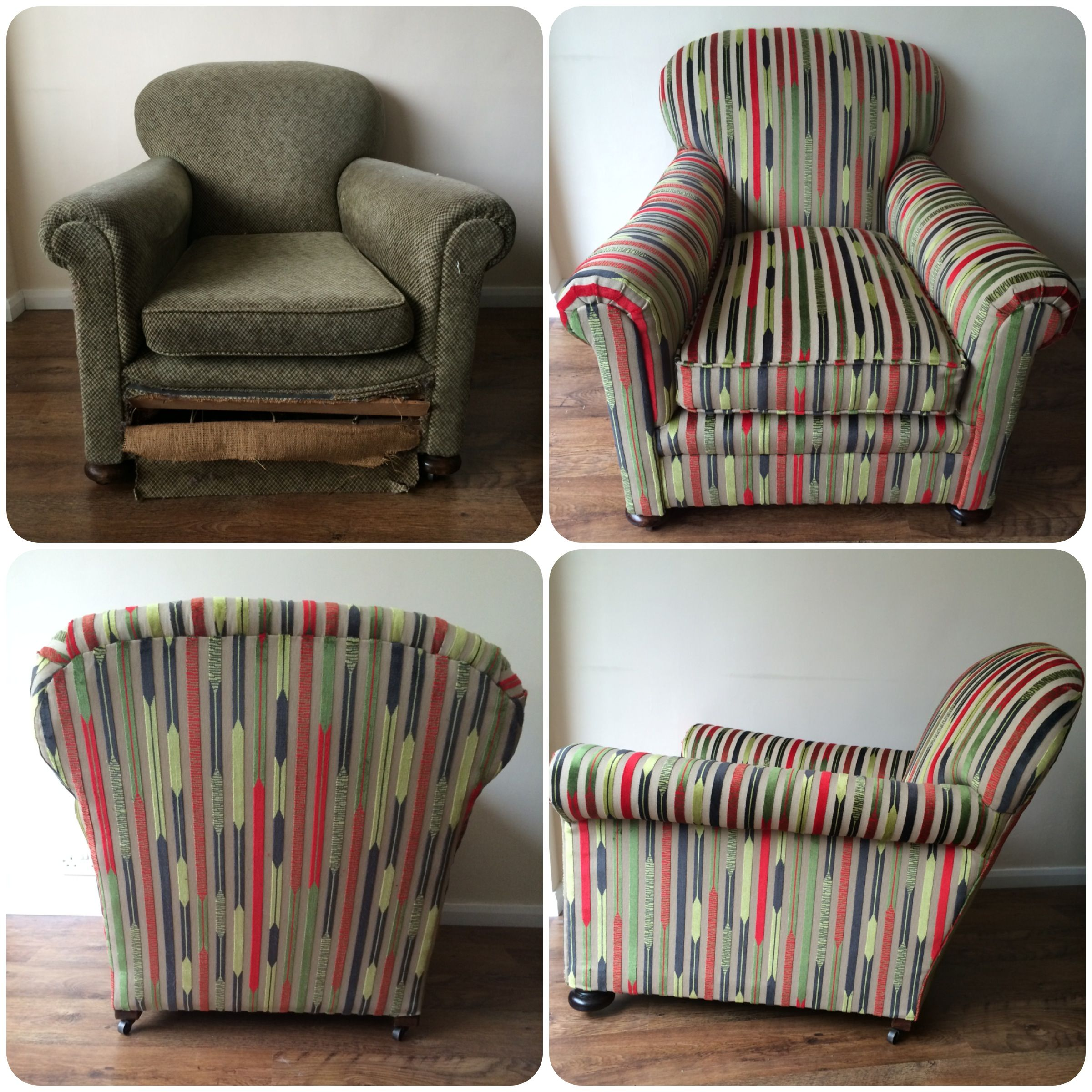 Antique club chair restored and re-upholstered using Sanderson Kandinsky Velvet & Antique club chair restored and re-upholstered using Sanderson ...