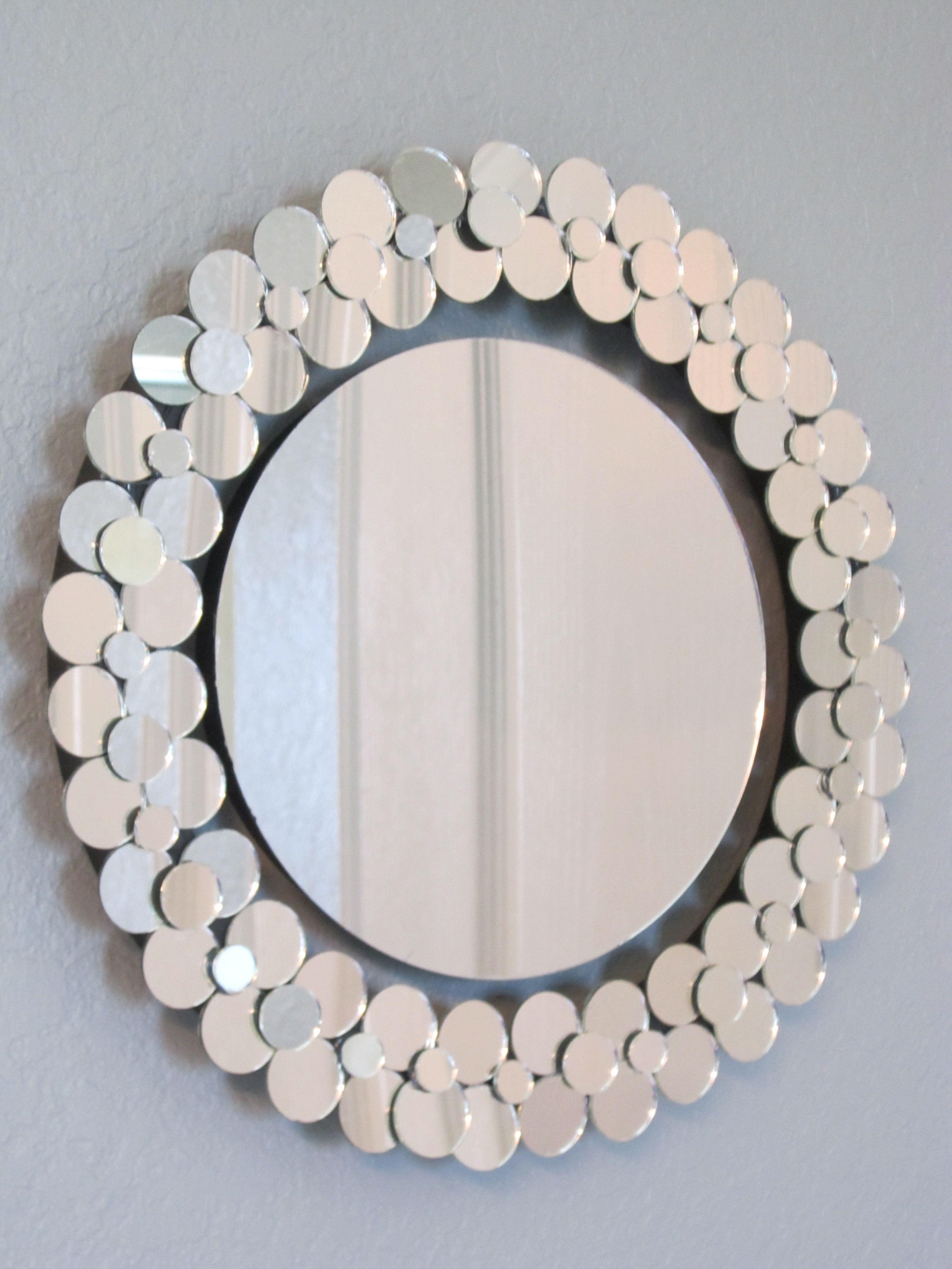 как можно оформить зеркало своими руками фото выполнить