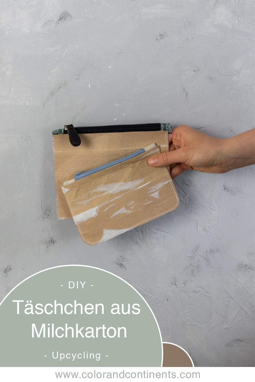 Bricolaje • Reciclaje de bolsas de leche: cose una bolsa pequeña de Tetra Pak