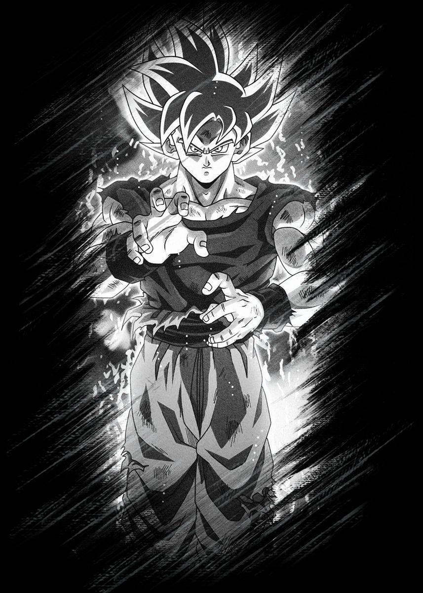 'Son Goku' Metal Poster Print - holavpn vpn | Displate | Displate thumbnail
