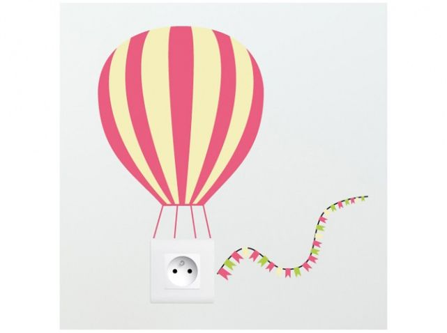 Decosoon sticker montgolfiere prise