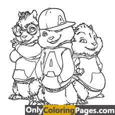 alvin and the chipmunks coloring pages printable coloring ...