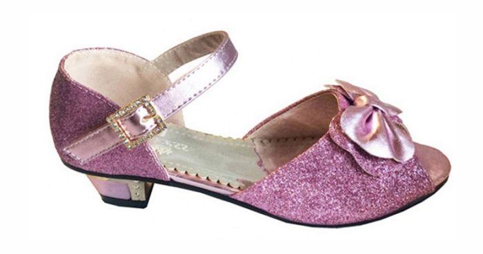 f997f208807 Επίσημα Παπούτσια Για Κορίτσια, Γόβες Για Παρανυφάκι - Πάρτι Σε Ροζ με  Γκλίτερ