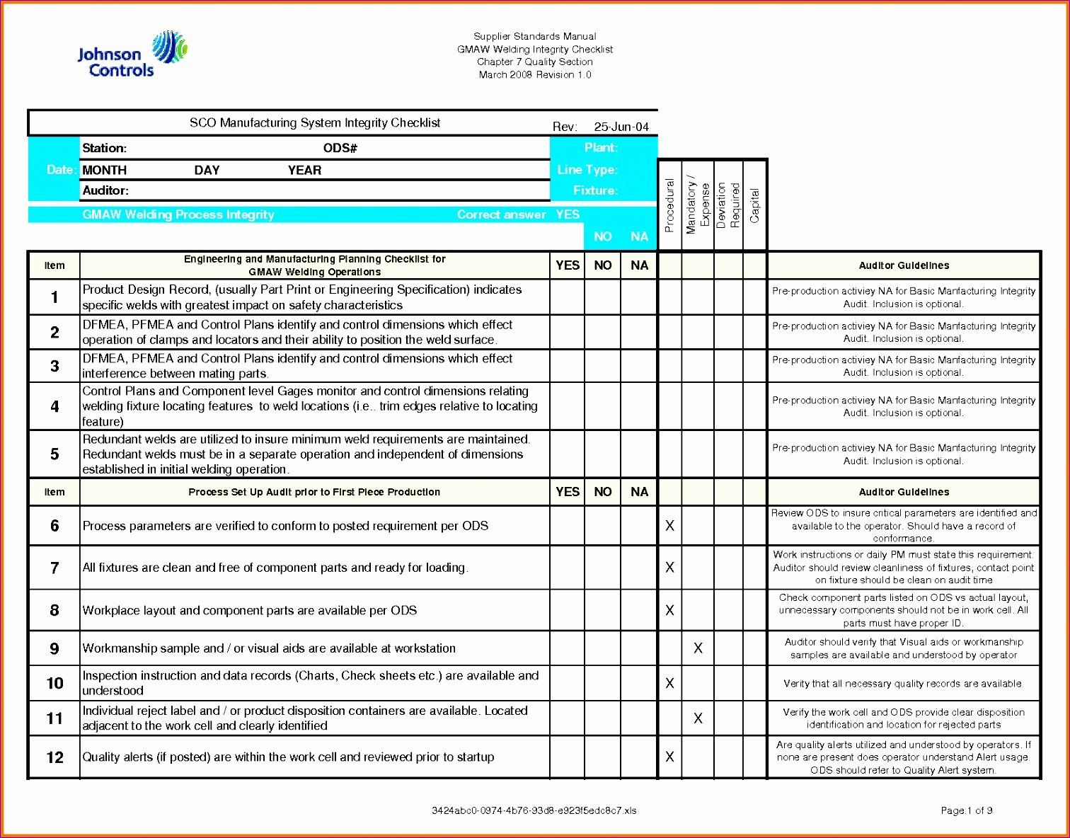 Construction Checklist Template Excel Awesome 11 Quality Checklist Template Excel Exceltemplates Checklist Template How To Plan Excel Templates Excel quality control checklist template
