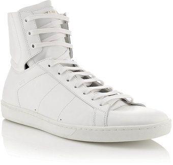 6d8da0fdc8e1e Yves Saint Laurent Sl01h Leather Sneaker - Lyst