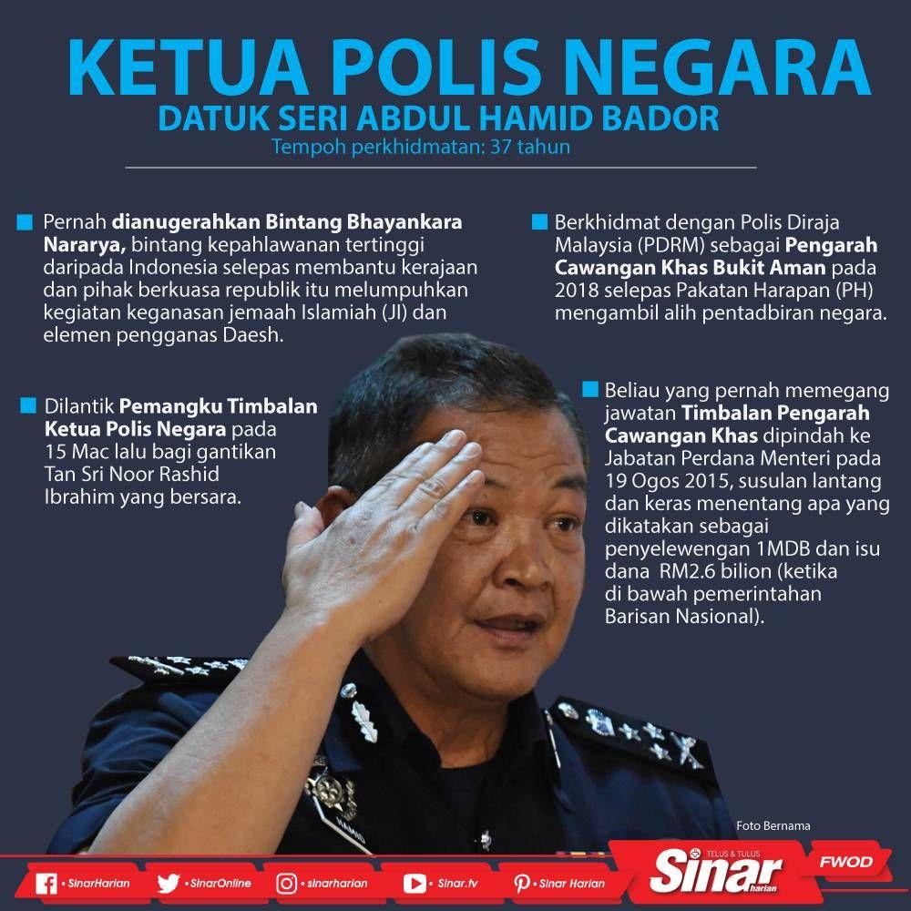 Abdul Hamid Dilantik Ketua Polis Negara Penuaan Malaysia