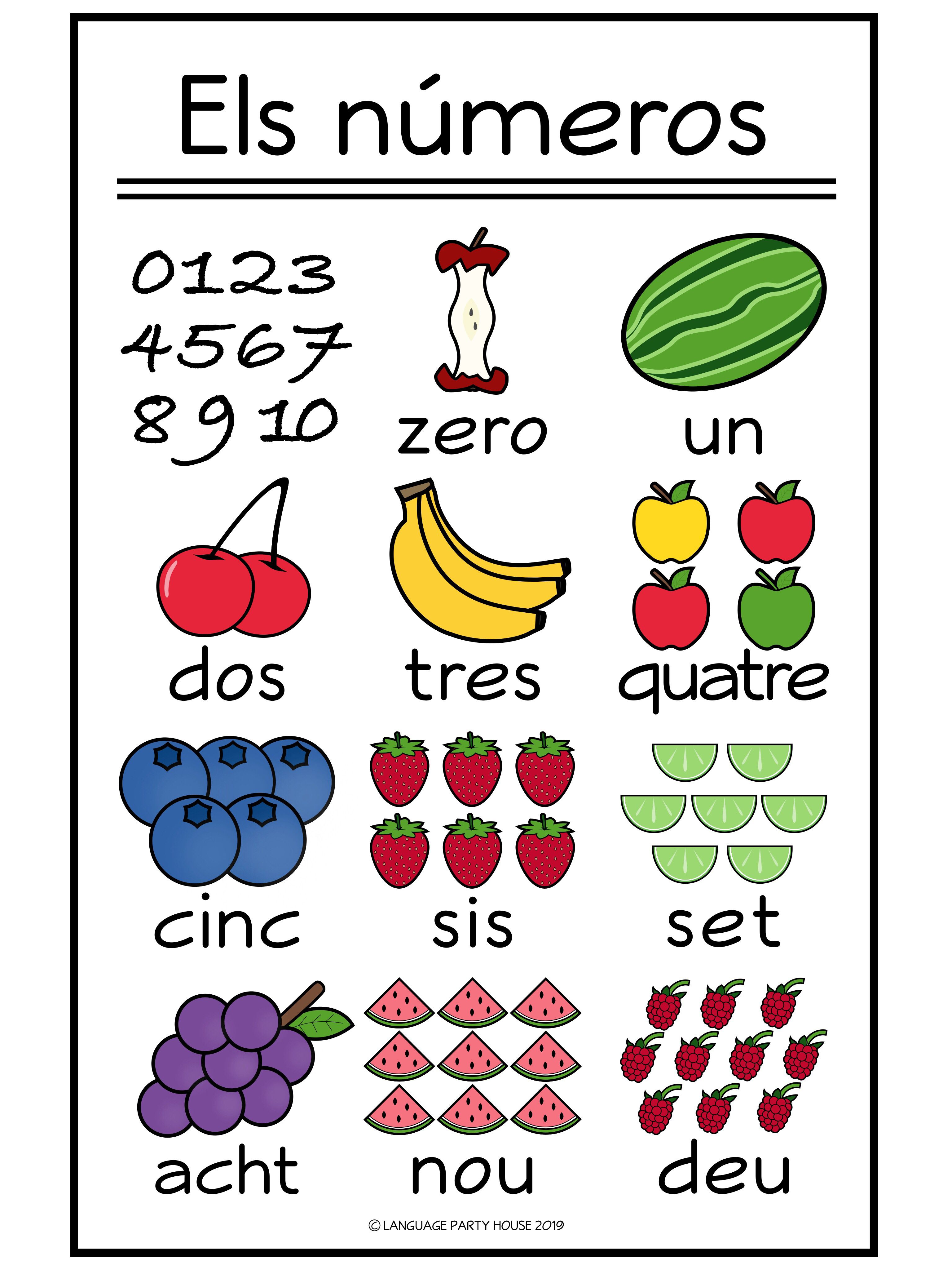 Numbers In Catalan Fruit Poster And Printables 0 10