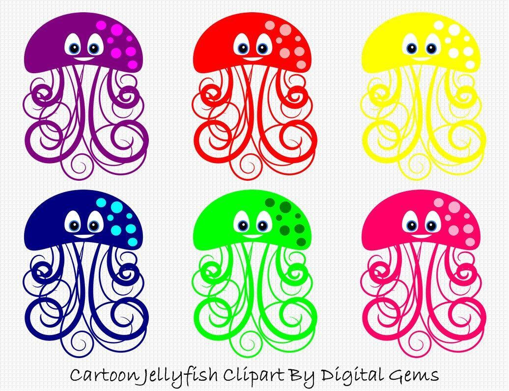 fish clipart jelly fish sea theme diy wall art cute cartoon  [ 1036 x 796 Pixel ]