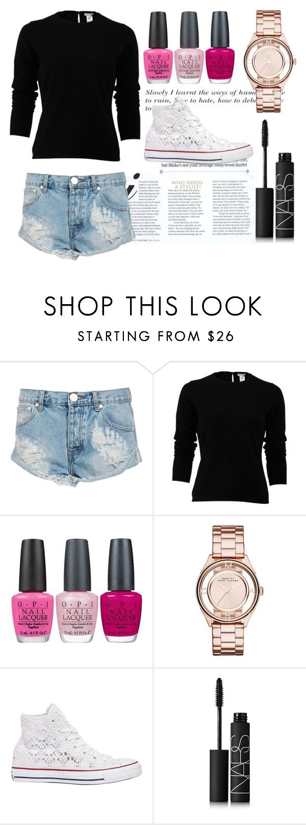"""""""17 years"""" by soidi-illis ❤ liked on Polyvore featuring One Teaspoon, Oscar de la Renta, OPI, Marc by Marc Jacobs, Converse and NARS Cosmetics"""