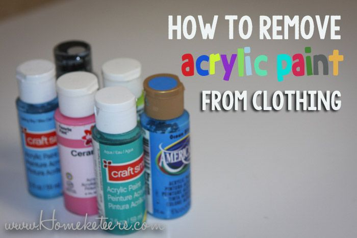 How To Remove Acrylic Paint From Clothing Remove Acrylic Paint Helpful Hints Household Hacks