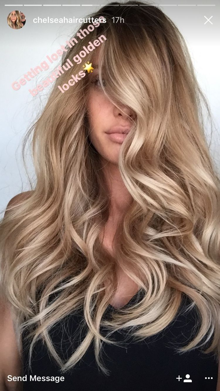 Perfect Honey Blonde Balayage Hair Color Full Head Of Champagne