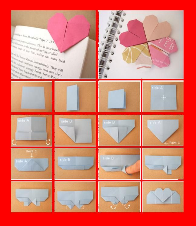 Page Marker Heart Crafts Pinterest Markers Origami And Craft