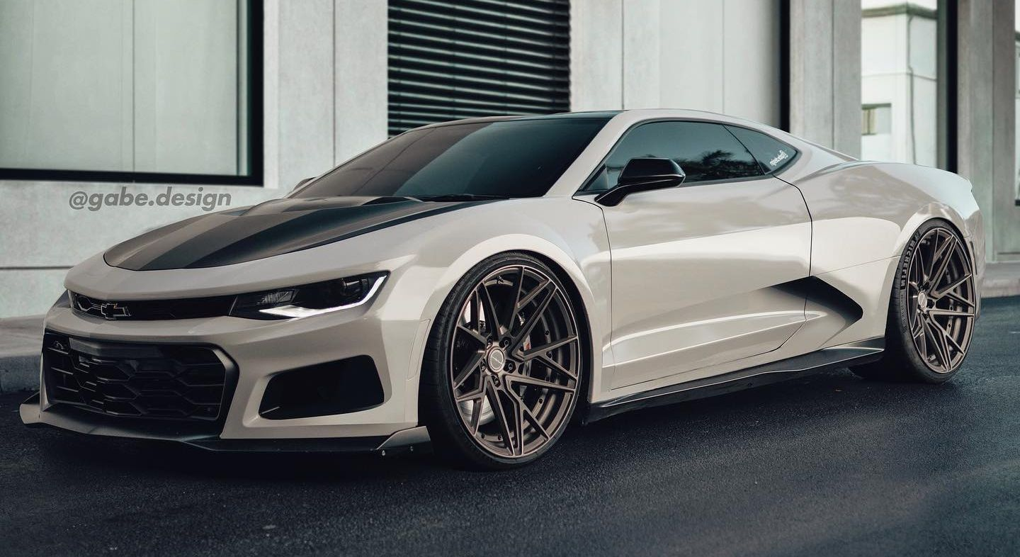 Rendering If The Chevy Camaro Was Mid Engined It Would Look Very Lamborghini Ish Top Speed In 2020 Camaro Chevrolet Camaro Chevy Camaro