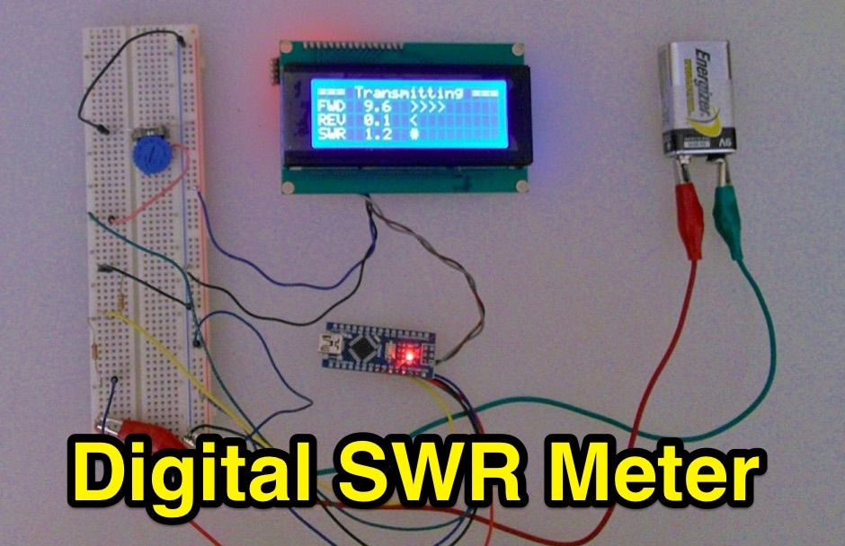 inline rf power vswr meter a diy meter 0 to 30 watt with