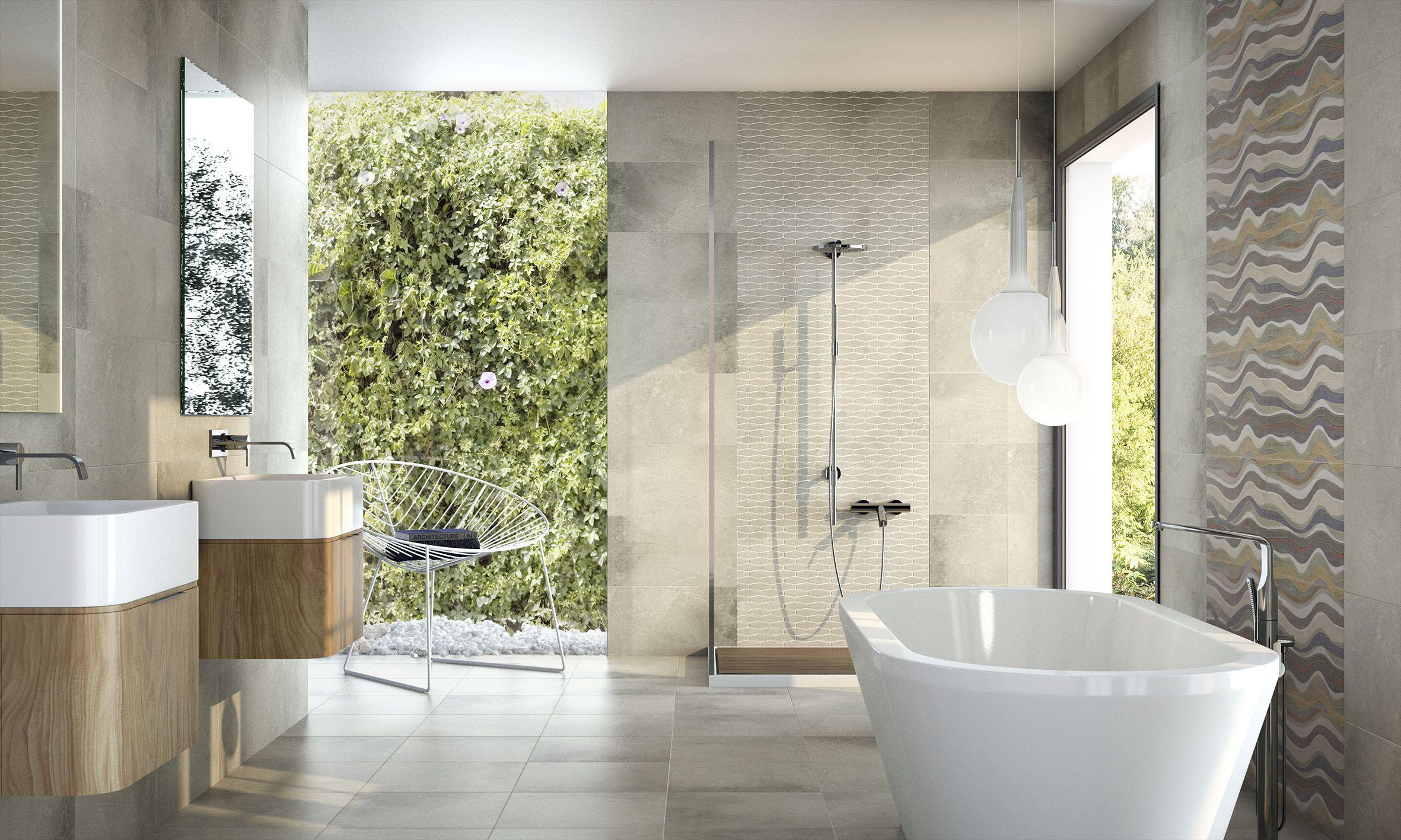 Bathroom design featuring the Habitat Dark Grey tile. #inspiration ...