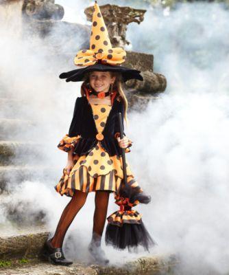la-dee-dots witch girls costume