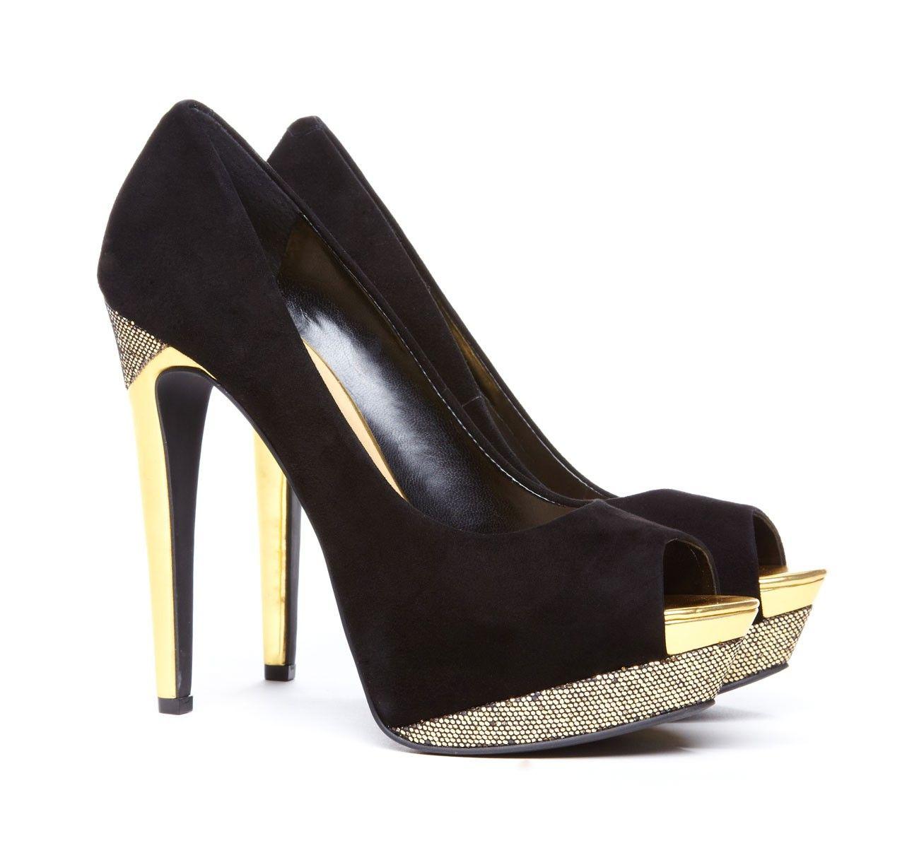 metallic peep toes